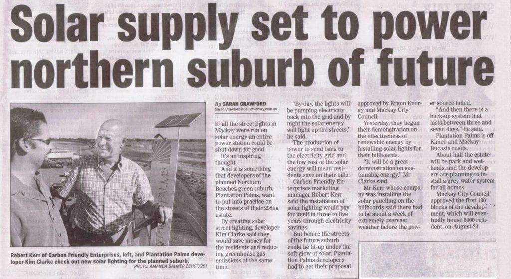 Carbon Friendly Enterprises Plantation Palms 2007